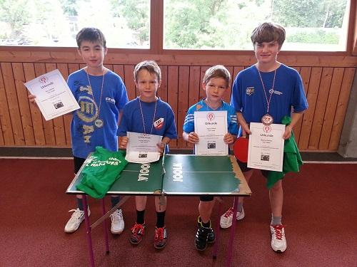 Unsere jüngsten Sieger der Jahrgänge 2003 bis 2005: Ken, Lorenz, Jesse und Marcel