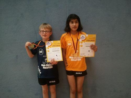 Saseler Mini-Meister erfolgreich bei der Deutschen Mini-Meisterschaft: Joschka und Afsoun