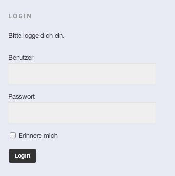 oder klicke im rechten Loginbereich einfach auf den Button Login ohne Daten einzugeben