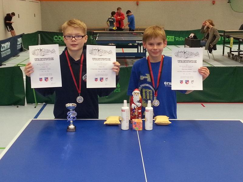 Schüler C: 2. Platz im Doppel und ein dritter Platz im Einzel