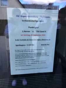 SSC Hagen Ahrensburg im ersten Spiel in der VOL