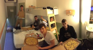 Gesunde (fettige) Pizza am Abend