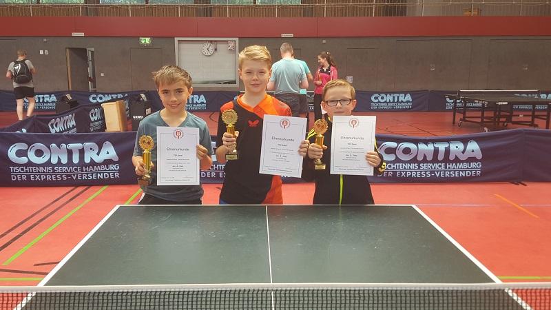Unsere 2. Schüler errang den 2. Platz im Schüler-Pokal mit Nils Winterberg, Fabian Otto und Joschka Hase, nicht abgebildet: Maximilian Alsleben